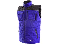 Padded vest SEATLE, winter, men´s, blue-black