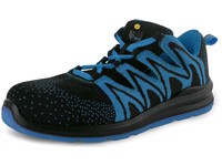 Low footwear CXS TEXLINE MOLAT S1P ESD, black - blue