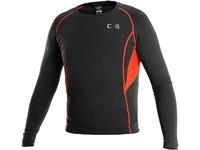 Dětské funkční tričko COMFORT, dl. rukáv, černo-oranžové