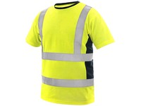 High visible T-shirt EXETER, men's, yellow