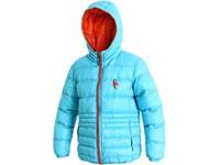 Dětská zimní bunda MEMPHIS, modro-oranžová
