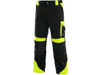 Trousers CXS SIRIUS BRIGHTON, winter, men´s, black-yellow