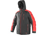 Jacket CXS BRIGHTON, winter, gray-red