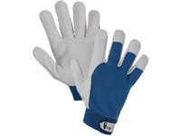 Gloves TECHNIK A, combined, blue-white