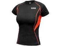 Dámské funkční tričko COMFORT, kr. rukáv, černo-oranžové