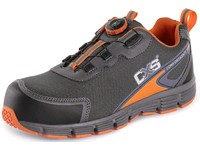 Low footwear CXS ISLAND NAVASSA S1P, grey - orange