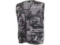 Vest CXS VENATOR, men's, black-grey (camouflage)