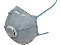 Particulate respirator SPIRO P2, moulded with valve and active carbon