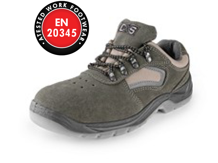 Low footwear CXS DOG DOBRMAN S1, grey
