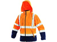 High visible softshell jacke DERBY, high visible, men´s, orange