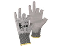 Gloves CXS CITA 3F, anticut resistant, 3-finger, grey