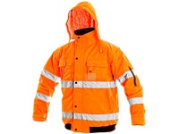 High visible padded jacket LEEDS, men´s, orange