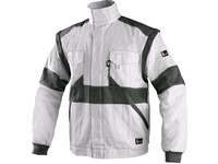 Jacket CXS LUXY EDA, men´s, white-grey