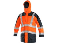 High visible jacketr CXS LONDON, 5in1, men's, orange-blue