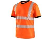 T-shirt CXS RIPON, high visible, orange-black