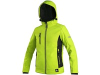 Children ́s softshell jacket CXS DURHAM, black-yellow