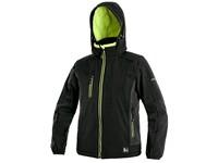 Children ́s softshell jacket CXS DURHAM, black-yellow