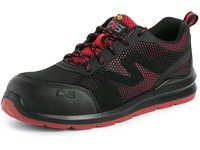 Safety low footwear CXS ISLAND PAROS S1P ESD, black-red