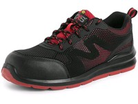 Low footwear CXS ISLAND SYROS O1 ESD, black-red