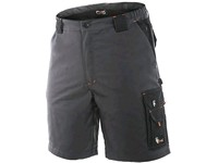 Men ́s  working  shorts SIRIUS ELIAS, grey-orange