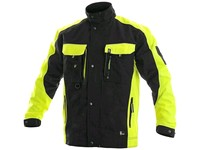 Jacket CXS SIRIUS BRIGHTON, 170-176cm, black-yellow