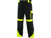 Trousers CXS SIRIUS BRIGHTON, 170-176cm, black - yellow