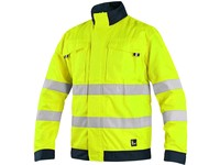 Jacket CXS HALIFAX, high visible, men's, yellow-blue