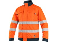 Jacket CXS HALIFAX, high visible, men's, orange-blue