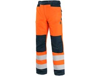 Trousers CXS HALIFAX, high visible, men's, orange-blue