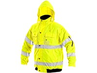 High visible padded jacket  LEEDS, men´s, yellow