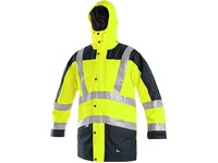 High visible men´s jacket LONDON, high visible, yellow-blue