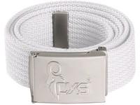 Belt CXS JUROK, white, 3,5 cm, 125 cm, metal buckle with CXS logo