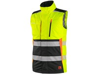 Vest CXS BENSON, high visible, paded, yellow-black