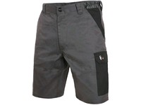 Men ́s working shorts PHOENIX ZEFYROS, grey-red