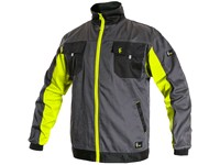 Jacket CXS PHOENIX PERSEUS, grey-yellow