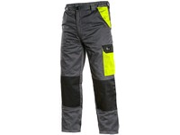 Working trousers PHOENIX CEFEUS, grey-yellow