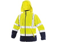 High visible softshell jacket DERBY, men´s, yellow