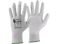 Gloves CXS ADGARA, antistatic, ESD, palm and fingers coated