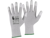 Gloves CXS SILOLI, antistatic, ESD, fingertips coated