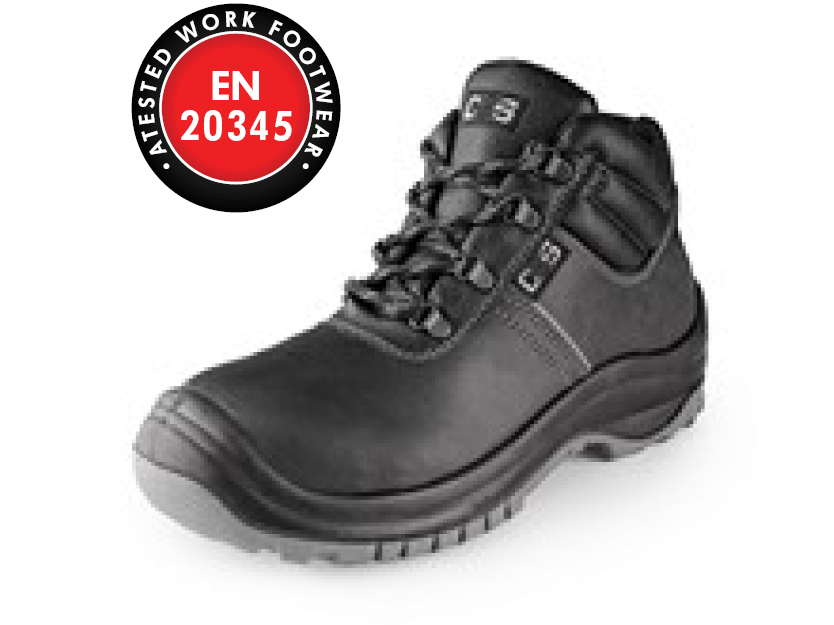 Ankle footwea SAFETY STEEL MANGAN S3, black