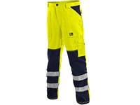 Men ́s trousers  NORWICH, high visible, men´s, yellow-blue
