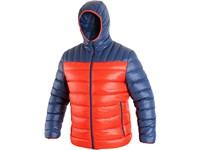 Pánská zimní bunda MEMPHIS, oranžovo-modrá