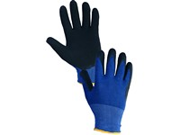 Gloves MAGNA, dipped in latex, blue-black