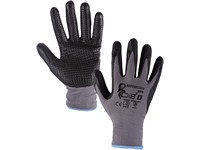 Gloves NAPA, dipped in nitrile, grey-black