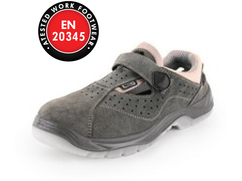 Obuv sandál CXS DOG FILA S1 P, šedá