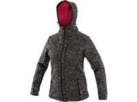 Dámská softshell bunda CHARLSTON, černo-růžová