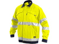 Jacket NORWICH, high visible, men´s, yellow-blue