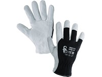 Gloves TECHNIK ECO, combined, black-white