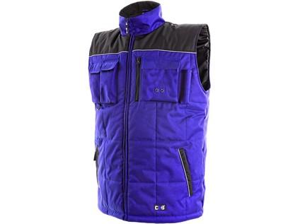 Pánská zimní vesta SEATTLE. modro-černá. vel. 2XL