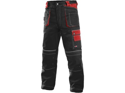 Pánské kalhoty ORION TEODOR, černo-červené - 10722_1020 003 805 00 TEODOR NOVE
